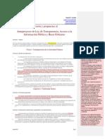 Comentarios y Propuestas a la Ley de Transparencia, Acceso a la Información Pública y Buen Gobierno