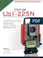 Pentax CST-225 Manual