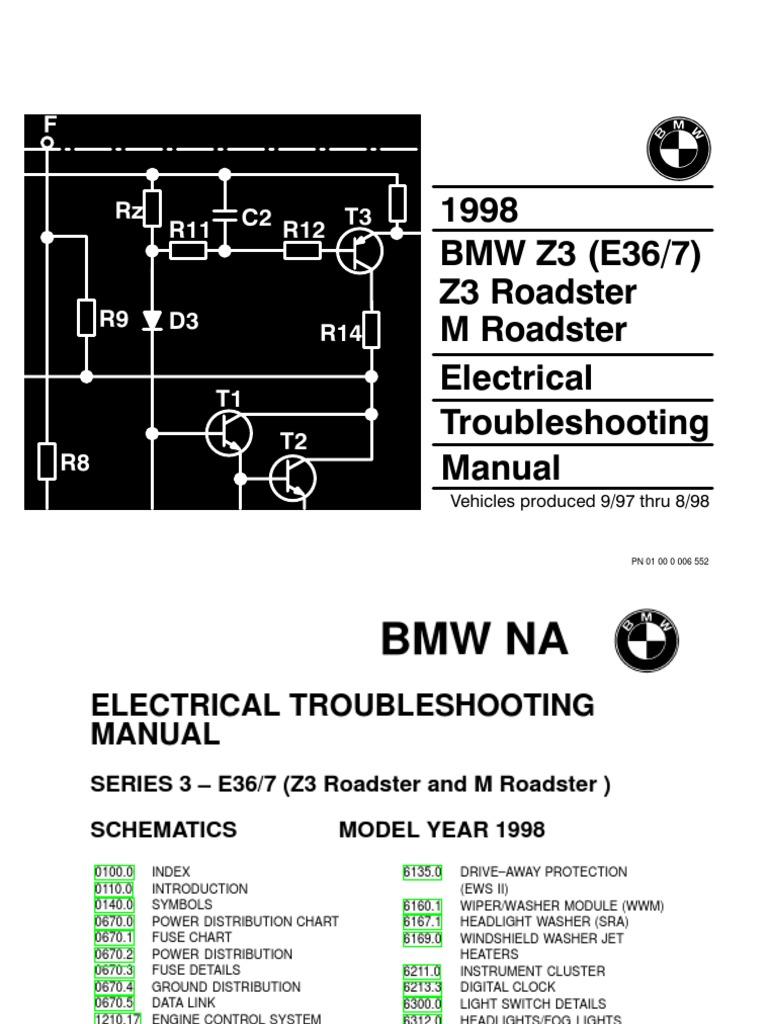 1998 Bmw Z3 Wiring Diagram - Wiring Circuit •