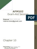 Afm102 Exam Aid Final