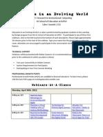 Evolving Education 2012 - Planner