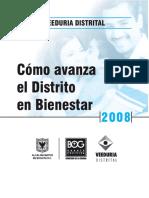Como Avanza El Distrito en Bienestar Social 2008