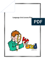 language arts lesson plan