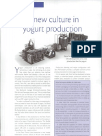 A New Culture in Yoghurt Production