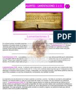 Puntos Sobresalientes - Lamentaciones 3 a 5