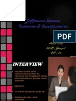 Interview and Questionnaire