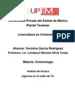 CASO CRIMINOLÓGICO.analisis de lectura 2