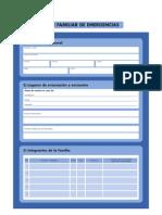 Ficha Plan Familiar de Emergencia