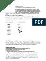 Mechanism of Superdisintegrants