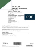 Igcse2009 Ict Sams (Practical)