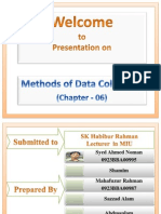Methods of Data Collection ,Brm