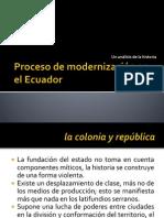 Proceso de modernización en el Ecuador