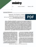Engineering a Novel Specificity in Subtilisin BPN - Rheinnecker Et Al