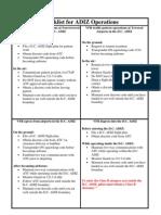 Checklist for ADIZ