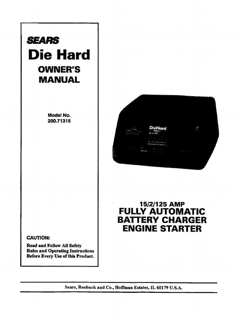 Diehard Battery Charger Wiring Diagram - Wiring Diagram