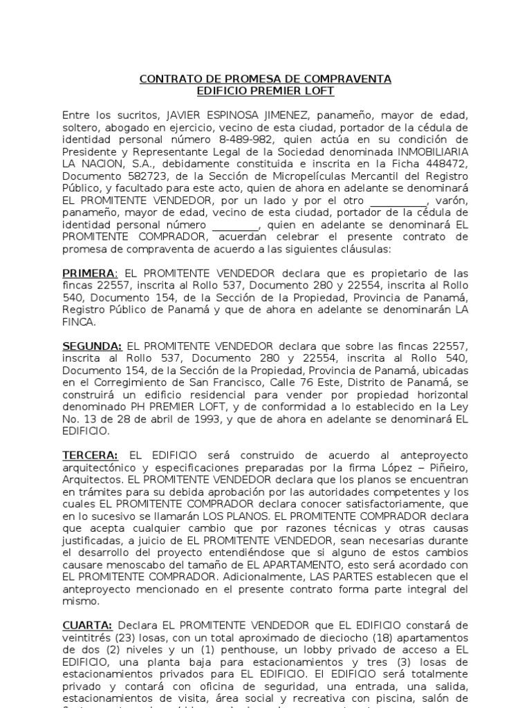Contrato de Promesa de Compraventa Formato Final1 (Mcort)