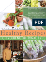 Healthy Recipes Web Copy