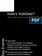 """India's Votegate? """"Results"""" before voting in Lok Sabha 2009"""