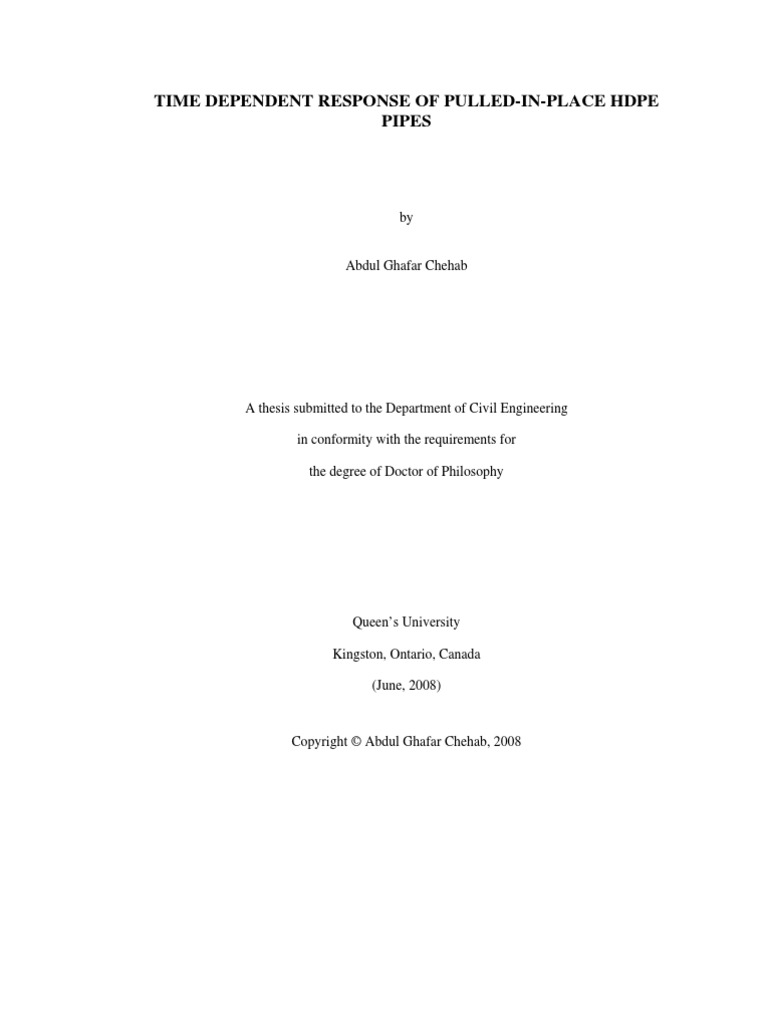 Civil engineering phd thesis