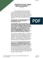 KJV Defenders - Ian R.K. Paisley - Testimony