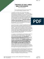 KJV Defenders - Tom Strouse - Testimony