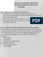 Conversion of Agriculture Land Rule 1992