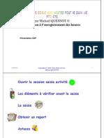 GU_SAP_FORMATION Enregistrement Des Heures