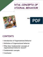 Fundamental Concepts of Organisational Behavior