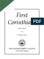 1 Corinthians [NT], Commentary