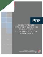 Foot Step Power Generation