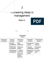 2 Pioneering Ideas in Management