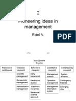 2 Pioneering Ideas in Management
