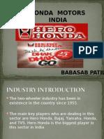 Hero Honda MARKETING PPT MBA