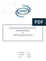 HANSA Process on Certification of ATM-ANS Training Providers (Ed.1.0)