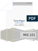Term Paper Mis 101 ( Mobile Banking)