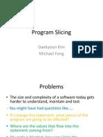 Program Slicing