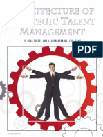 Architecture of Strategic Talent Management