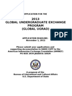 2013 Global Ugrad Prog Application