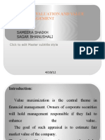 Corporate Valuation and Value Based Management