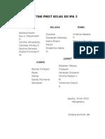 daftar piket 3a3