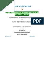 51530937 Consumer Behavior Towards Birla Sunlife Insurance Limited