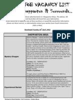 Employment List 10-4-12