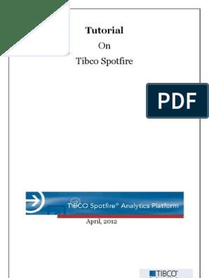 Tutorial Spotfire | Analytics | Chart