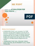 Enterpreneurshp b Plan Homework Point