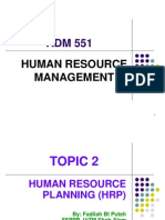 Adm 551 Hrm Topic 2 Human Resource Planning