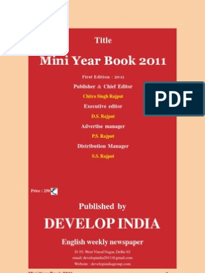 Mini Year Book 2011 | Economy Of India | Airlines