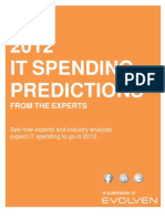 "eBook IT Spending - By ""Evolven"""