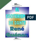 El Esoterismo de Dante, René Guenon
