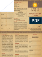 Brochure Gita Course