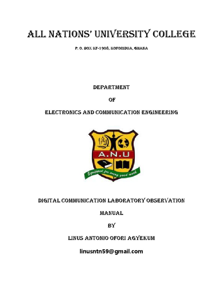Digital Communication Lab Manual